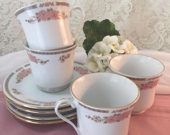Fairfield Fine China Yung Shen Floral Mist Teacup & Saucer