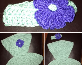 Mermaid crochet photo prop for baby
