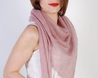 Transparent mohair shawl