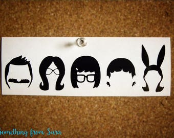 Bob's Burgers Family Silhouettes