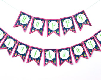 "Party Cakes Banner - ""Happy Birthday!"""