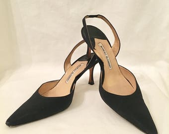 SOLD- Manolo Blahnik Black Heels