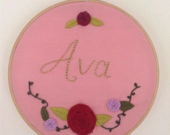 Cute Baby Name Embroidery