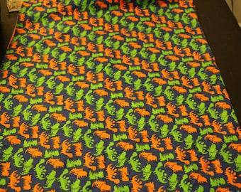 Dinosaur print/orange minky dot weighted blanket/sensory blanket