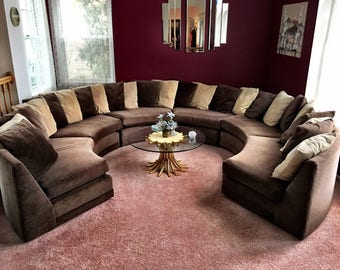 Unique 70's Vintage Circle Couch - PICK UP ONLY!