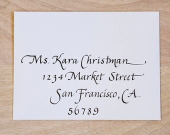 Envelopes Italic Calligraphy