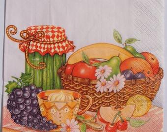 4 Decoupage Paper Napkins Fruit for Decoupage Craft Scrapbooking 052