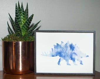 Watercolor Stegosaurus Print