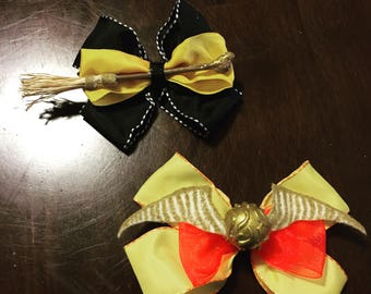 Harry Potter Quidditch Hairbows