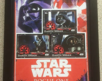 Topps Rogue One Custom Darth Vader Card Montage In Ribba Frame