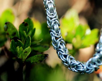 Titanium Byzantine Chainmaille Bracelet