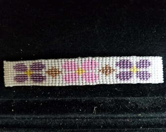 Beaded Barrette with Flowers