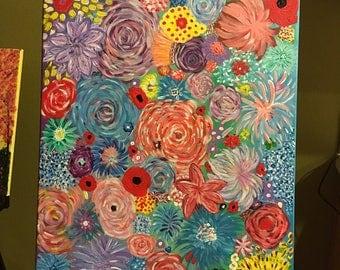 Blossom Acrylic Painting