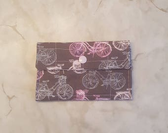 Mini wallet; Fabric card holder.