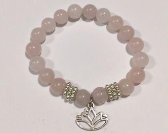 Rose Quartz Beaded Bracelet 8mm