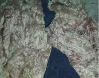 Vintage Fur Coat/Animal/Circa 1930/Lined Jacket/Soft/Antique/CLassic Beauty/