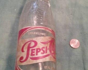 Vintage Glass Pepsi Cola Bottle,Springfield/Akron/ Ohio/Small Town History/Sparkling/Pop/Brew/Used/Antique Glass