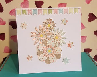 Handmade Greetings Card 6x6 inches