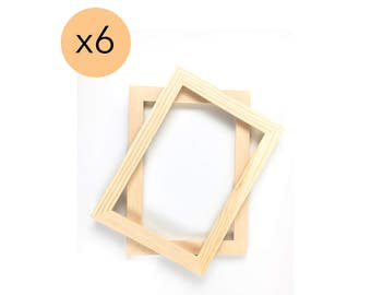 8x12 unfinished wood frames set of 6 wholesalebulk unfinished wood frames 8x12 open frames
