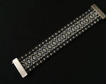 Bracelet beads Miyuki - model listello gold