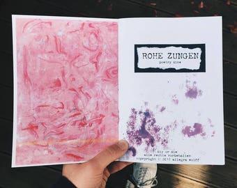 Raw tongues - poetry Zine