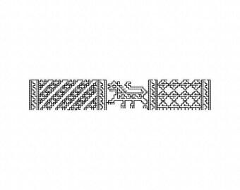 machine embroidery design blackwork  lion SCA renaissance