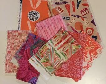 Designer Fabric Scrap Bag-Pink