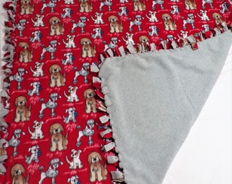 Dog Theme Fleece Blanket