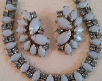 Heavenly Shades of Blue Elegant WEISS Vintage Demi Parure