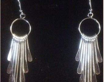 SOLID STERLING SILVER Indian Style Earrings