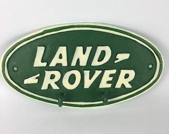 Land rover cast iron key holder
