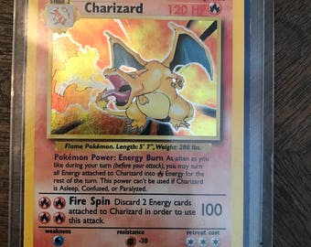 1995-1999 wizards holographic charizard 4/102 in mint condition!