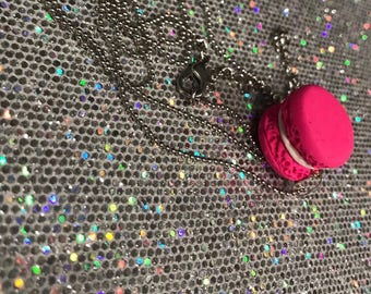 Polymer clay handmade macaroon necklace