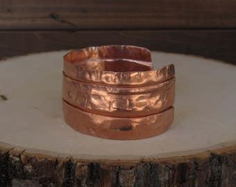 Folded Copper Cuff