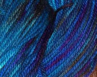 Hand Dyed 'Lagoon' 8 ply Australian Fine Merino Yarn 100 grams