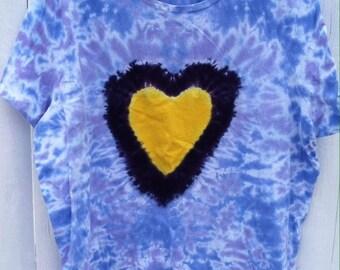 Tie Dye 2 XL Heart Tee