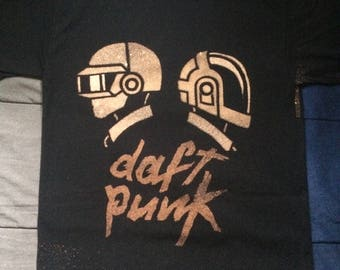 Darft Punk Duo - Bleached Shirt