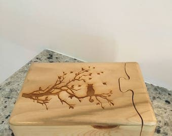 Puzzle Box - Cat In A Tree