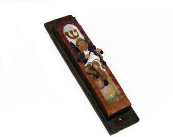 Unique MEZUZAH Case Protect your Jewish Doors from All Evil Made in Israel  holyland judaica Collectible
