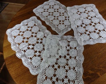Vintage crocheted place mats