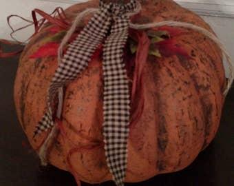 Autumn Pumpkin Large - Paper Mache