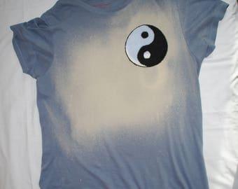 Yin-Yang bleached T-shirt