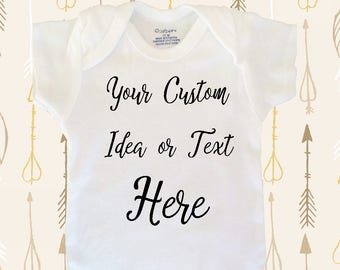 Custom baby clothes, personalized baby bodysuit, baby shower gift, cute baby gift, baby gift funny, baby shirt, cute baby bodysuit