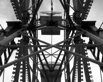 Ferris Wheel; black and white photography; black and white wall art; black and white print; black and white; fine art photography
