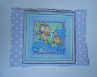 Pack 2 Bluebell Fun Embellishment Toppers for cards and crafts.