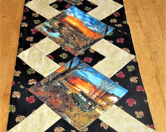 Scenes from Days past Quilted Table Runner