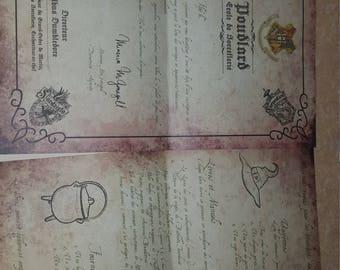 Letter of admission to Pouddlard