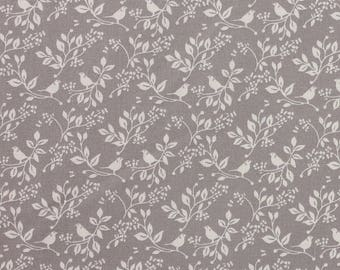 Silhouette Floral 'Birds & Leaves' by Fabric Freedom Fat Quarter