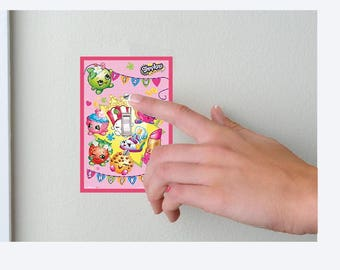 Shopkins- Skye and Everest- Lightswitch Cover