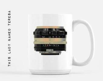 Camera Lens - design 5 - 11oz or 15oz Mug